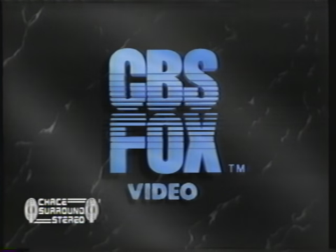 CBS/Fox Video (Chace Surround Stereo, 1990)