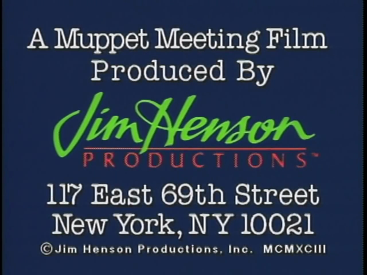 Jim Henson Productions (Muppet Meeting Films)