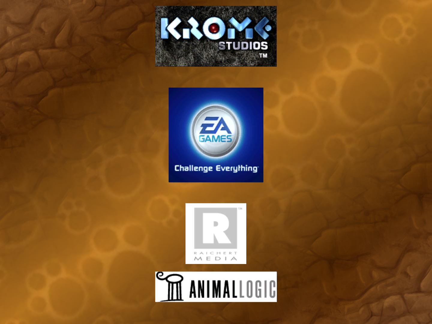 Krome Studios, EA Games, Raichert Media and Animal Logic (TY the Tasmanian Tiger in-credit logos)