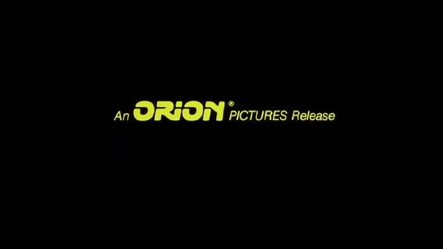1980 Orion Pictures logo (1982 closing version, Yellow text)