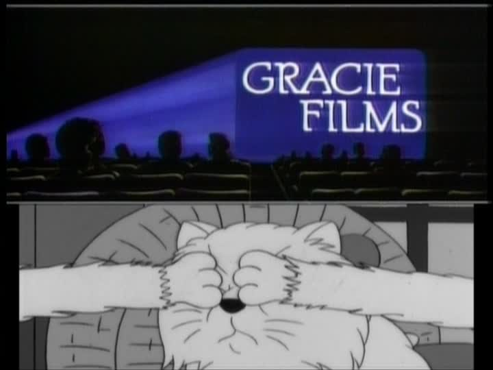 "Gracie Films variant from ""Last Tap Dance in Springfield"" (note the fake cat arms!)"