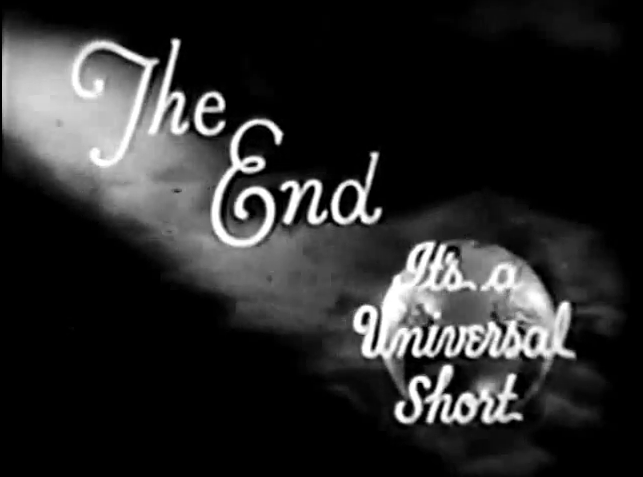 The End It's A Universal Short (1931)