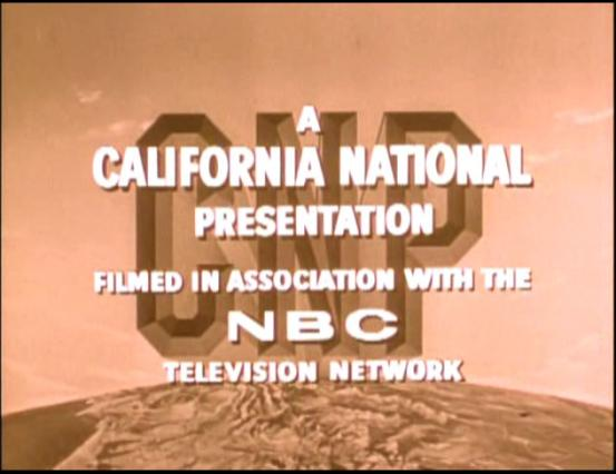 California National Productions/NBC Television Network (1959, Sepia Tinted)