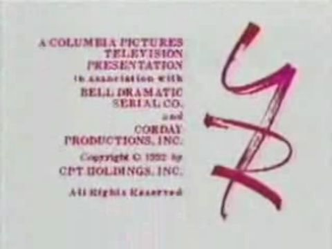 CPT IAW Bell Dramatic Serial Co. and Corday Productions, 1992 Y&R""